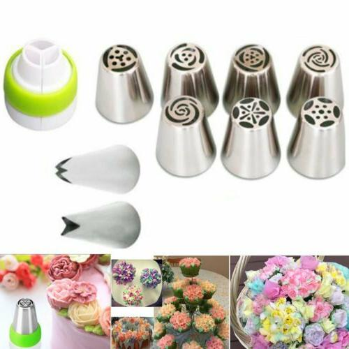 7/42Pcs Cake Decorating Set Icing Nozzles w/