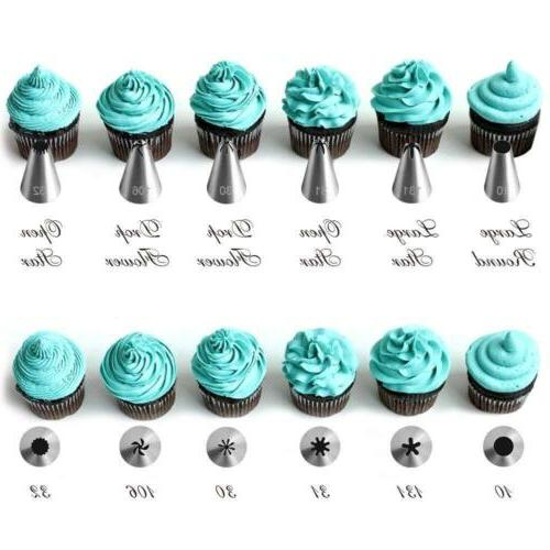 42Pcs Nozzles Pastry Tips Cake Sugarcraft Decorating Tools