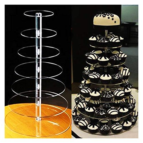 7-Tier Acrylic Round Cake Cupcake Stand Tower for Birthday Wedding Party Display