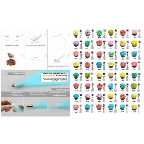 73pcs Tool Kit Baking Fondant Turntable Tip