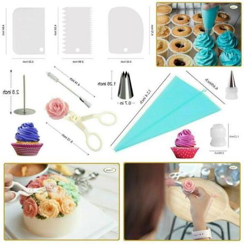 73pcs Decorating Kit Baking Fondant Turntable Spatula