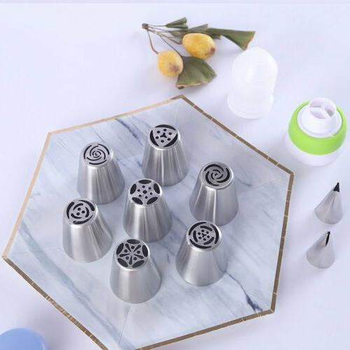 7Pcs Flower Russian Piping Nozzles