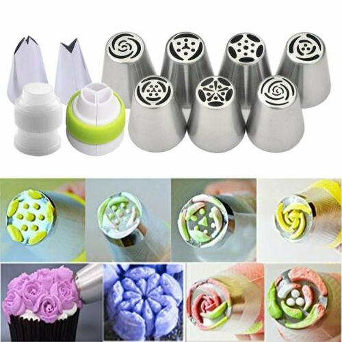 7pcs flower russian icing piping nozzles pastry