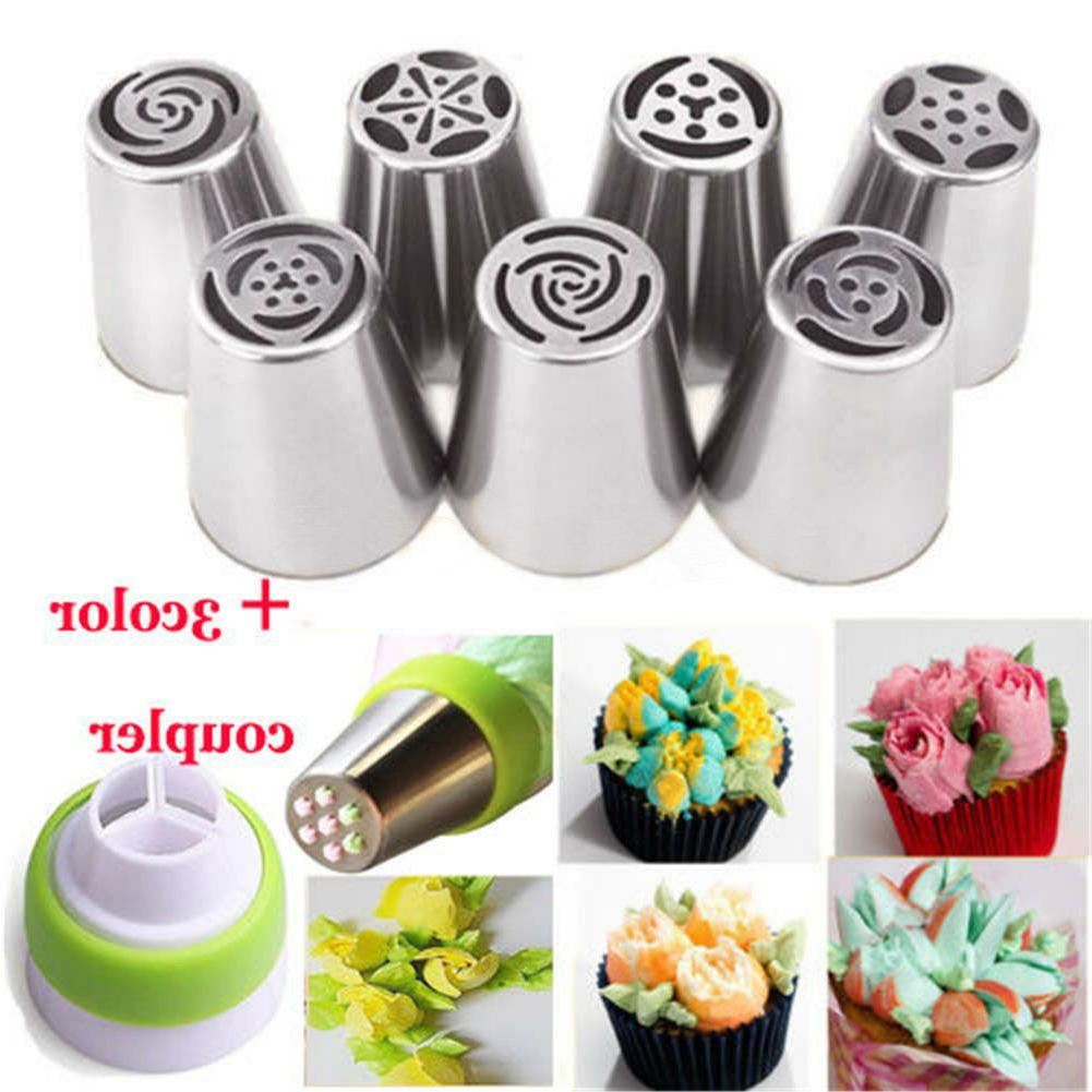 7pcs russian tulip flower cake icing piping
