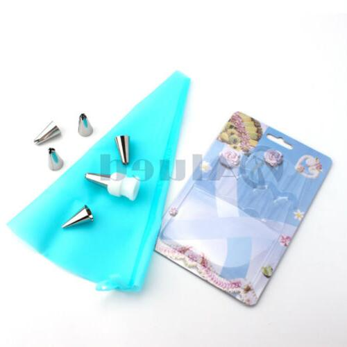 8Pcs Cake Set Tools Tips Bags Nozzles