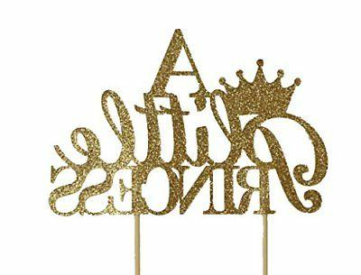 All About Details Gold A Little Princess Cake Topper