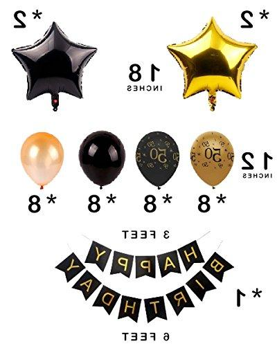 Dharma 50th DECORATIONS COMPLETE SUPPLIES MEN WOMEN INCLUDES LATEX BALLOONS 26 PROPS
