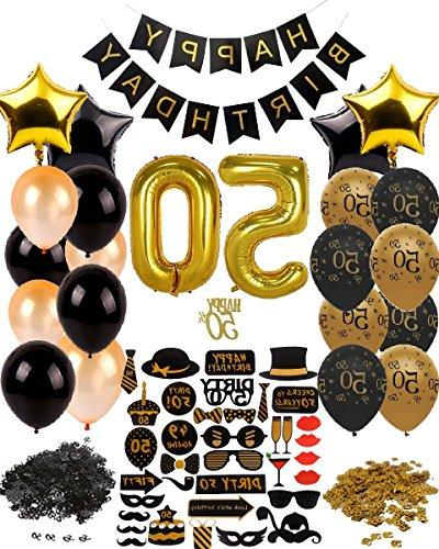 Dharma Creations 50th BIRTHDAY DECORATIONS COMPLETE PACKAGE