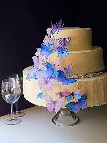 Edible Butterflies © - Set of 30 Purple- Cake Decorations,