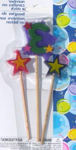 Number Birthday Cake Candles / Toppers / Decorations / Kit /