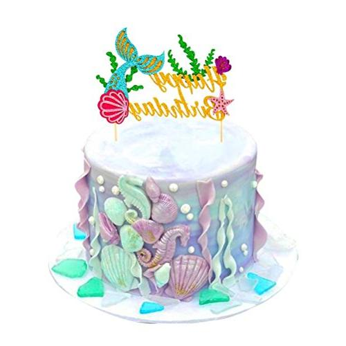 Sakolla Glitter Picks Mermaid For Baby Birthday Supplies