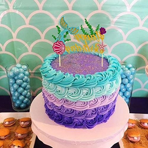 Sakolla Topper Happy Picks Cake Decoration for Shower Birthday Party