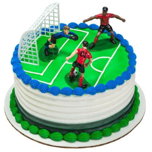 Soccer- Kick Off Boys DecoSet Cake Decoration
