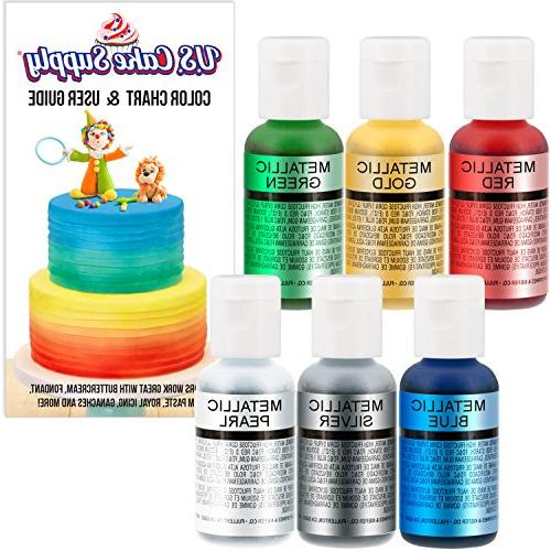 The 12 Most Popular ... U.S Cake Supply by Chefmaster Airbrush Cake Color Set