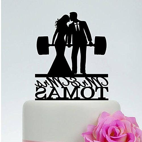 Weightlifting Wedding Cake Toppers Personalized Bride And Groom