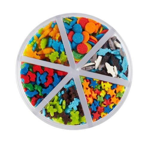 Wilton Animal and Stars 6-Cell Sprinkles 710-1176