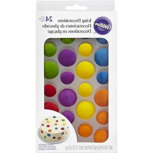 assorted dots royal icing decorations