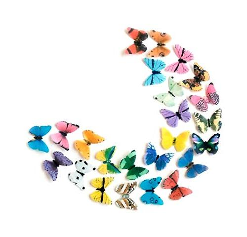 Assorted Rainbow Paper Butterflies Inch Decorating Desserts Cupcakes Cakes of 24