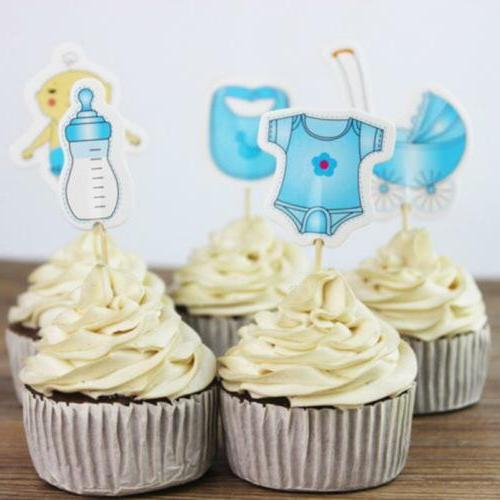 20 Cupcake Toppers for Baby Shower Its a Boy/Girl Kids Party