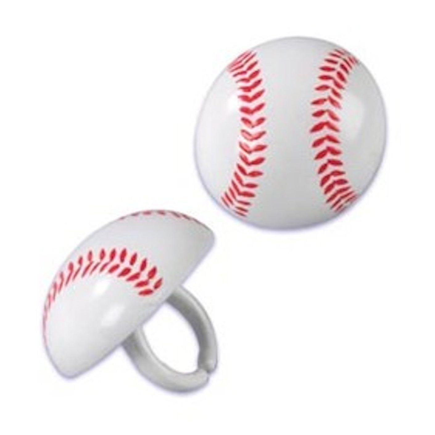 BASEBALL TOPPERS CAKE SPORTS FAVORS24 PC SET