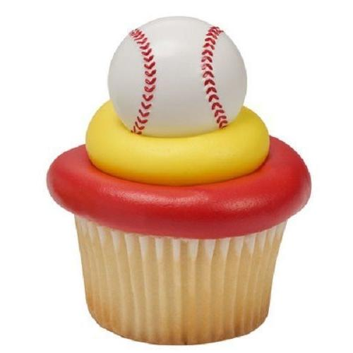 baseball rings party cupcake toppers cake decorations