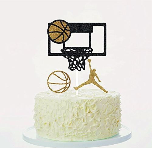 Basketball Cake Toppers Cupcake Toppers Orange Gold Black