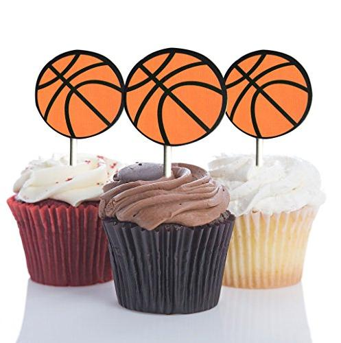 Basketball Cupcake Toppers Basketball Party Picks Party