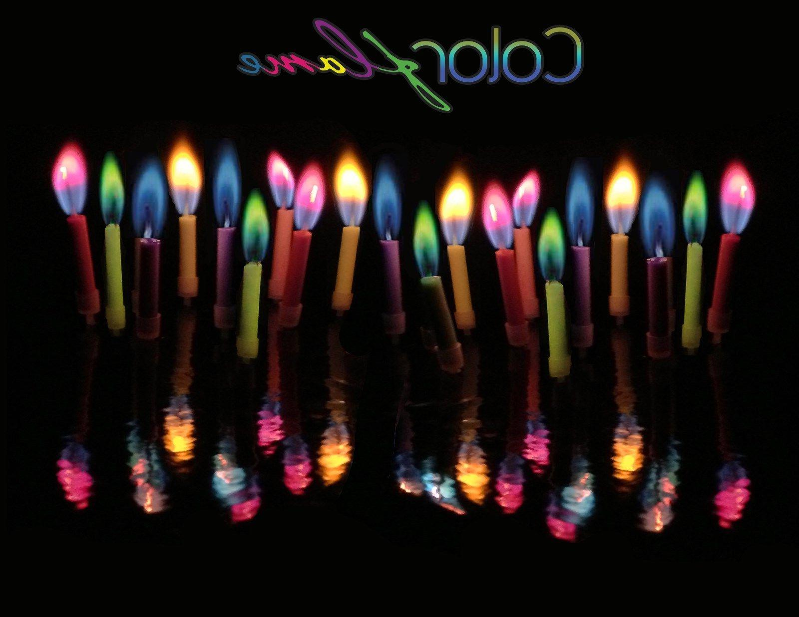 Colorflame Birthday Cake Candles Decorations Color Flame ~ 1