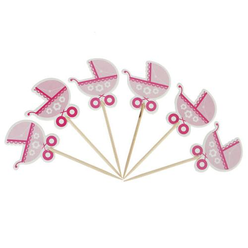 Boy/Girl Type Shower Cute Birthday Cupcake Toppers