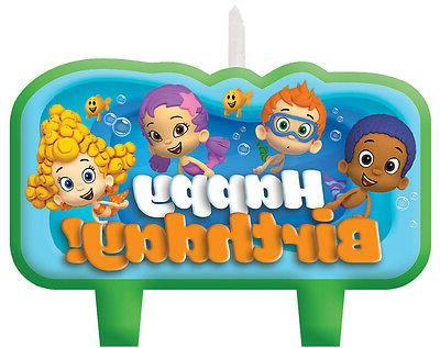 Bubble Guppies Birthday Candle Set Cake Toppers Decorations