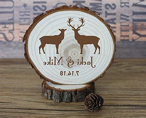 buck doe wedding cake toppers