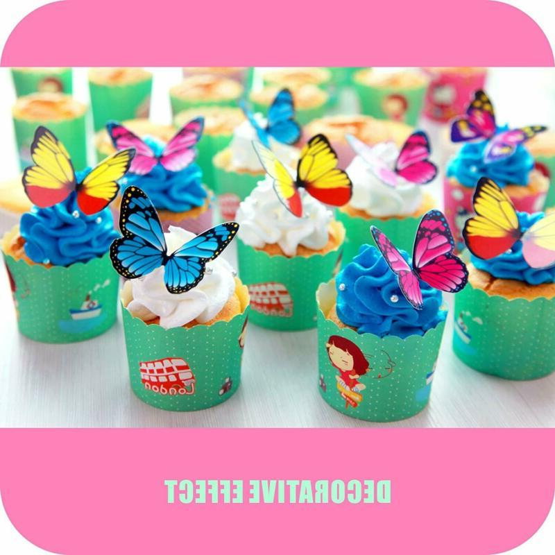 Butterfly 100Pcs Set Mousse Decoration