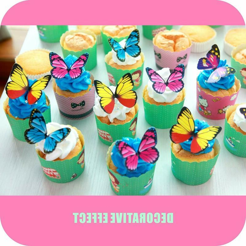 Butterfly 100Pcs Set CHOCOLATE Decoration 4