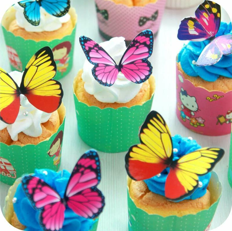 Butterfly Cake Set CHOCOLATE Mousse Cupcake Decoration