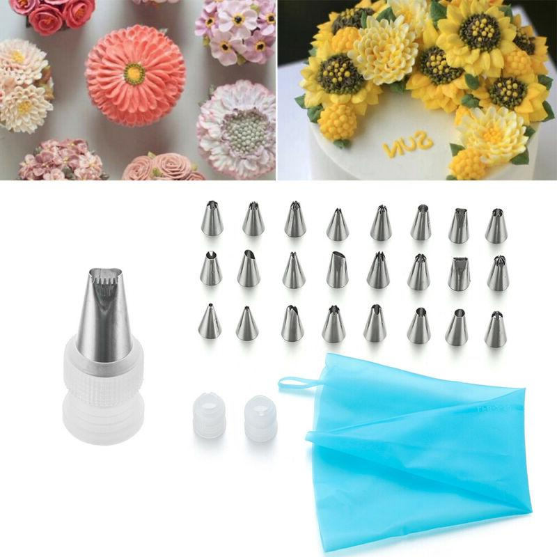 Cake Decorating Tools Bags Russian Tips Pastry Icing Bags set