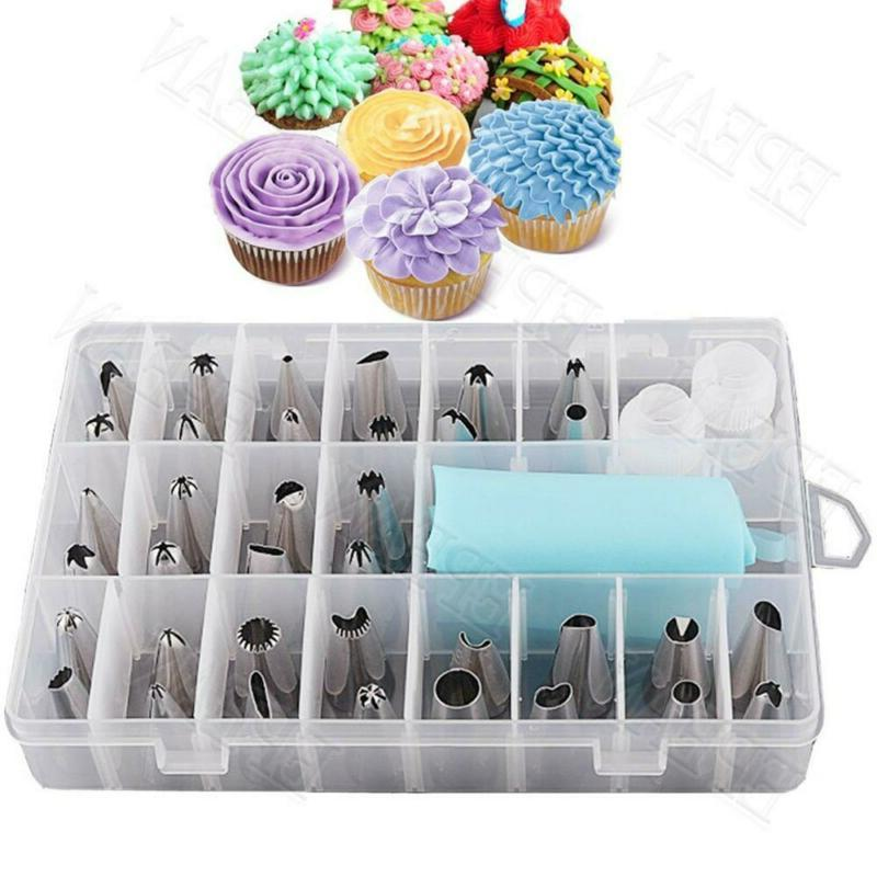 Cake Decorating Kit Tools Bags Russian Piping Tips Pastry Ic