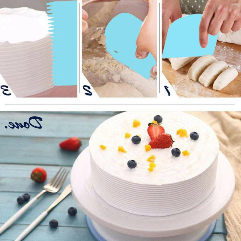 Cake Supplies Decorating Turntable Stand Pieces kit^