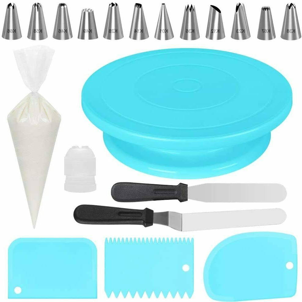 Cake Decorating Supplies Pieces Kit Baking Tools Turntable S