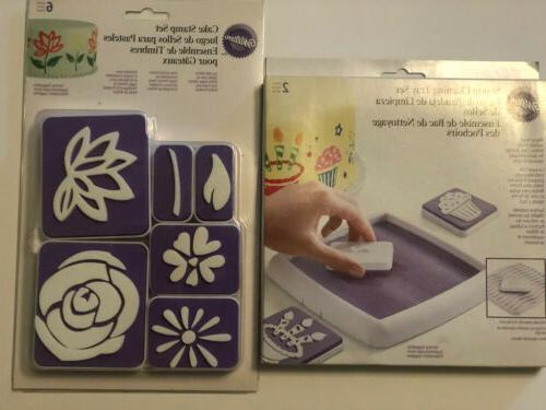 cake stamp cleaning tray set