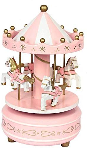 Carousel Bunting Garland, Party Cake Decorations Merry-Go-Round Christmas Birthday Gift Carousel Music