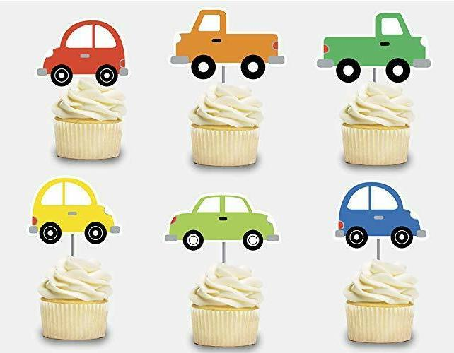 cars cupcake toppers 12 pcs transportation cake
