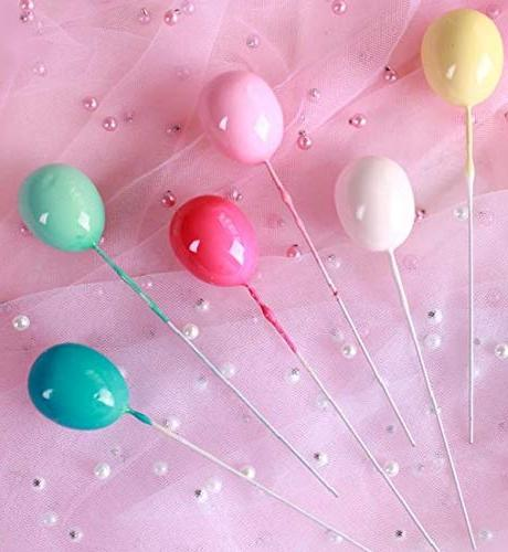 Colorful Birthday Cake Cloud Balloon cake flag Birthday Party Supplies