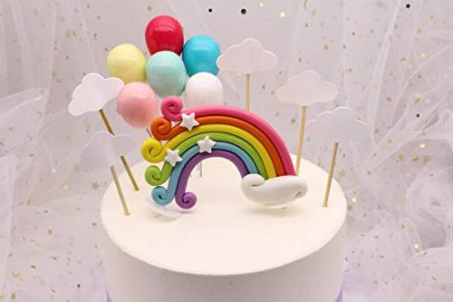 Colorful Topper Birthday Flags Cloud Balloon cake flag Birthday Supplies