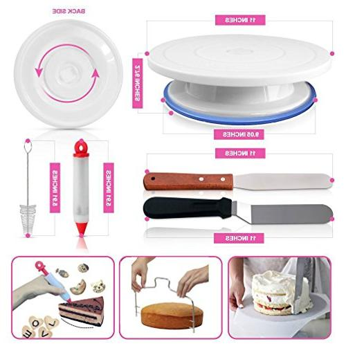 Cake Icing Cake Rotating Turntable, BONUS and