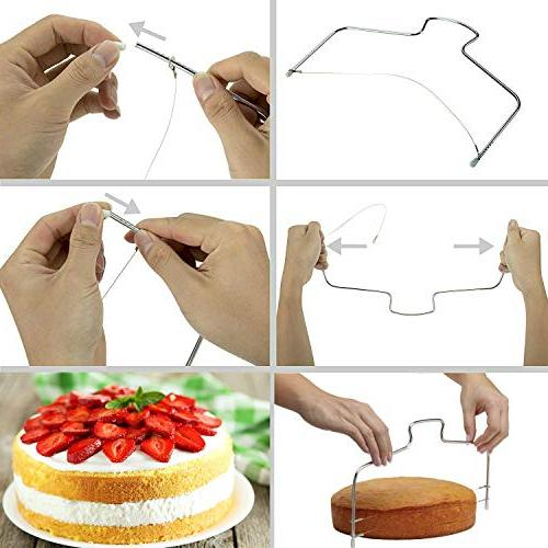 Cake Decorating Supplies With PCS Icing Tips, Rotating Turntable, BONUS and More!