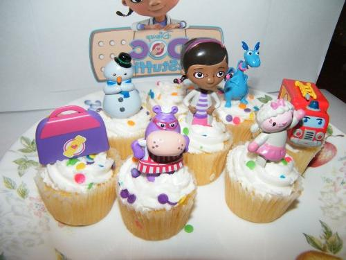 Disney Doc Figure Deluxe Cake Toppers Cupcake Set of Doc, Fire and More!