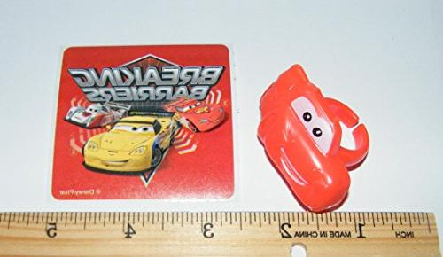 Disney Cars Deluxe Cake Set of with Plastic Sheet ToyRing Lightning Damage and