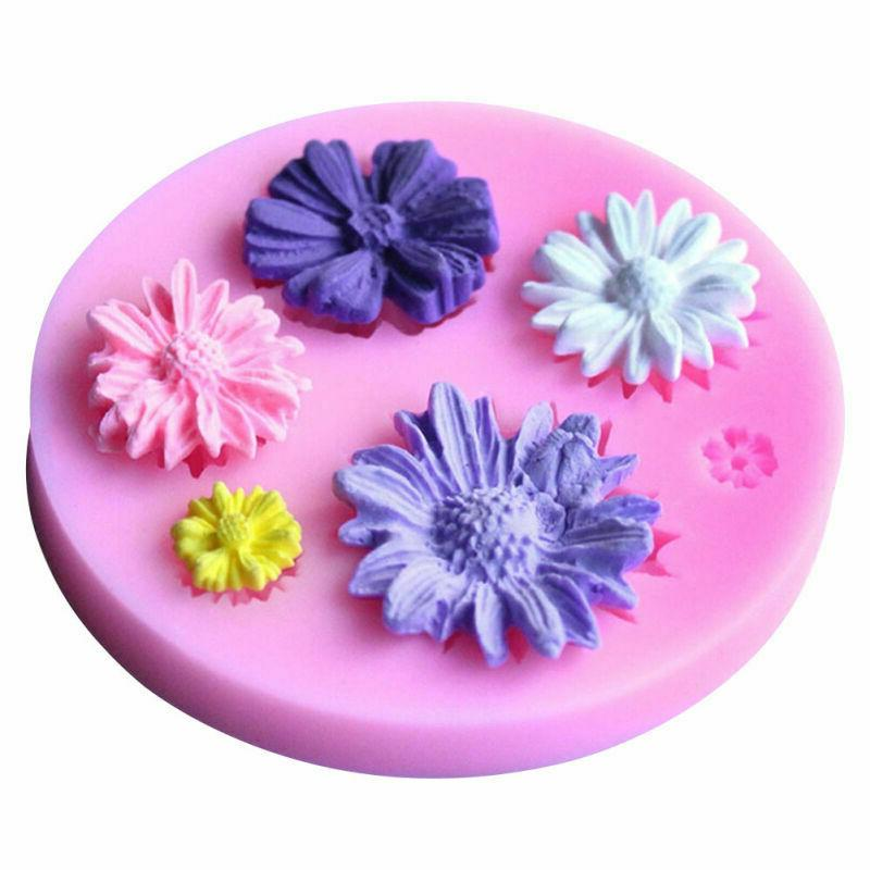 DIY 3D Flower Silicone Mold Fondant Cake Decorating Chocolate