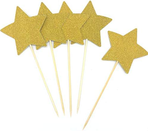 double sided gold glitter star
