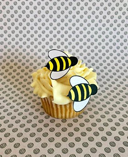 Edible Bees- wafer bees 24 - Cake Cupcake Toppers,